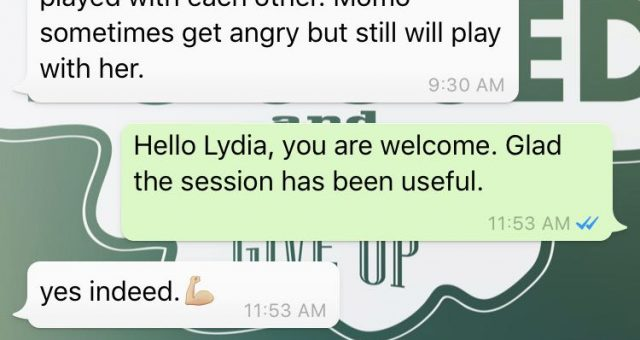 Animal communication testimonial Lydia